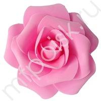 Y Декор свадебный Роза нежно-розовая 12см 1шт