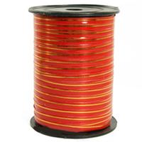 Лента 5мм x 250у Красная с золотой полосой (Москва) А0537