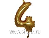 "1206-0633 Г ЦИФРА 4 14"" Gold"