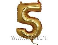 "1206-0634 Г ЦИФРА 5 14"" Gold"