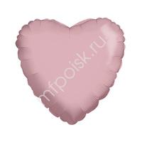 "K Сердце BABY PINK 18""/45см"