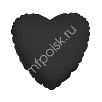 "K Сердце BLACK 18""/45см"