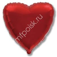 "K Сердце BURGUNDY 18""/45см"