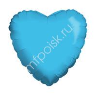 "K Сердце METALLIC BLUE 18""/45см"