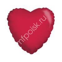 "K Сердце RED 18""/45см"