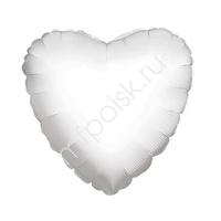 "K Сердце WHITE 18""/45см"