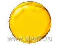 "1204-0164 Ф Б/РИС 9"" КРУГ Металлик Gold(FM)"