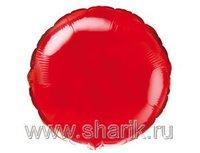 "1204-0167 Ф Б/РИС 9"" КРУГ Металлик Red(FM)"