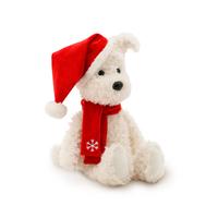 Игрушка мягкая Пес Санта 25см