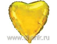 "1204-0171 Ф Б/РИС 9"" СЕРДЦЕ Металлик Gold(FM)"