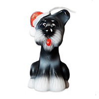 Свеча новогодняя Собачка Барбос 6,5см