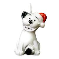 Свеча новогодняя Собачка Догги 6,5см