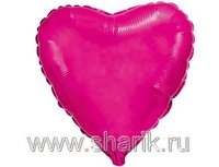 "1204-0173 Ф Б/РИС 9"" СЕРДЦЕ Металлик Purple(FM)"