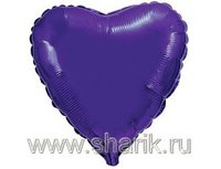 "1204-0176 Ф Б/РИС 9"" СЕРДЦЕ Металлик Violet(FM)"