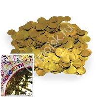 AC Конфетти 100гр 2см фольгированное Круги золото