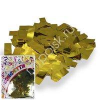 AC Конфетти 100гр 2*5см фольгированное Прямоугольники золото