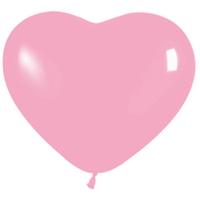 Сердце (6''/15 см) Розовый (009), пастель, 100 шт.