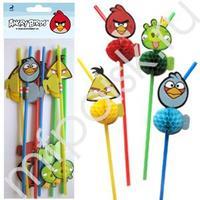 BA Трубочки для коктейля Angry Birds 8шт