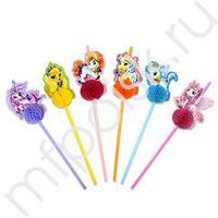 F Трубочки для коктейля Angry Birds Stella 6шт