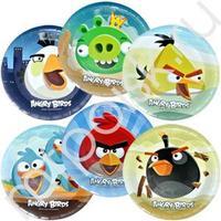 F 23см Тарелки бумажные ламинированные Angry Birds 6шт
