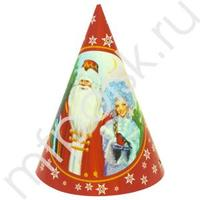 F Колпачок Дед Мороз и Снегурочка 6шт