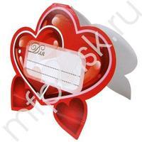 PR Банкетная карточка Сердце 20шт