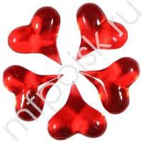 Q Декор Сердечки красные 3,4x3,4см 5шт