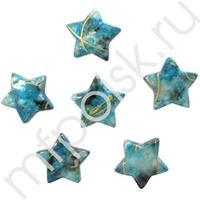 Q Декоративные бусины Звезды бирюзовые 2.3х1.8см 20шт