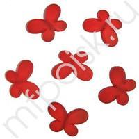 Q Декоративные бусины Мотылек красные 3х2,2см 10шт