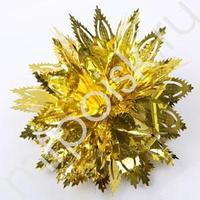 Q Подвеска фольгированная ажурная золотая 44см