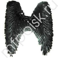 WB Крылья Ангела черные 58см х 52см