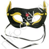 WB Маска Кошка черно-золотая