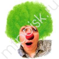 WB Парик Кудрявый зеленый
