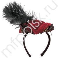 WB Шляпка треуголка на ободке красная