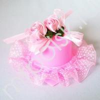 Y Бонбоньерка Шляпка розовая 2шт