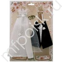 Y Украшение на шампанское Жених и Невеста