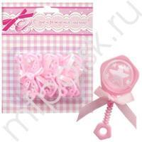 Y Фигурка декоративная Погремушка розовая 6,5см 6шт