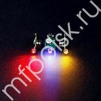 TP Светодиод 3d разноцветный в защитном корпусе 10шт