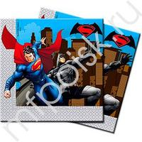 Pc 33см X 33см Салфетки Бэтмен против Супермена 20шт
