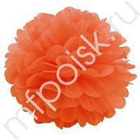 Q Помпон бумажный 20см оранжевый