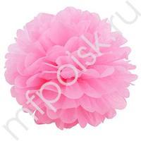 Q Помпон бумажный 20см розовый