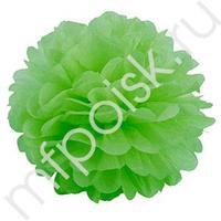 Q Помпон бумажный 20см светло-зеленый