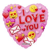 """K Сердце 733 I love you Смайлы 18""""/45см"""