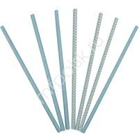 Y Трубочки бумажные ассорти Light Blue 12(6+6)шт