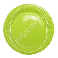 Y 18см Тарелки бумажные ламинированные Green 6шт