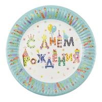 P 18см Тарелки бумажные С Днем Рождения Свечи 6шт