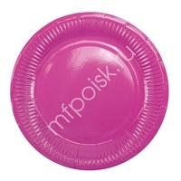 Y 18см Тарелки бумажные ламинированные Hot Pink 6шт