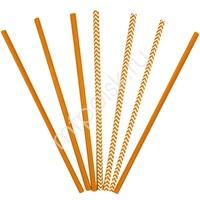 Y Трубочки бумажные ассорти Orange 12(6+6)шт