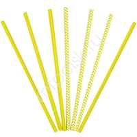 Y Трубочки бумажные ассорти Yellow 12(6+6)шт