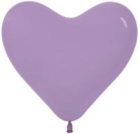 Сердце (6''/15 см) Сиреневый (050), пастель, 100 шт.